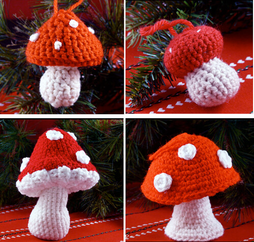 Crocheted Mushrooms