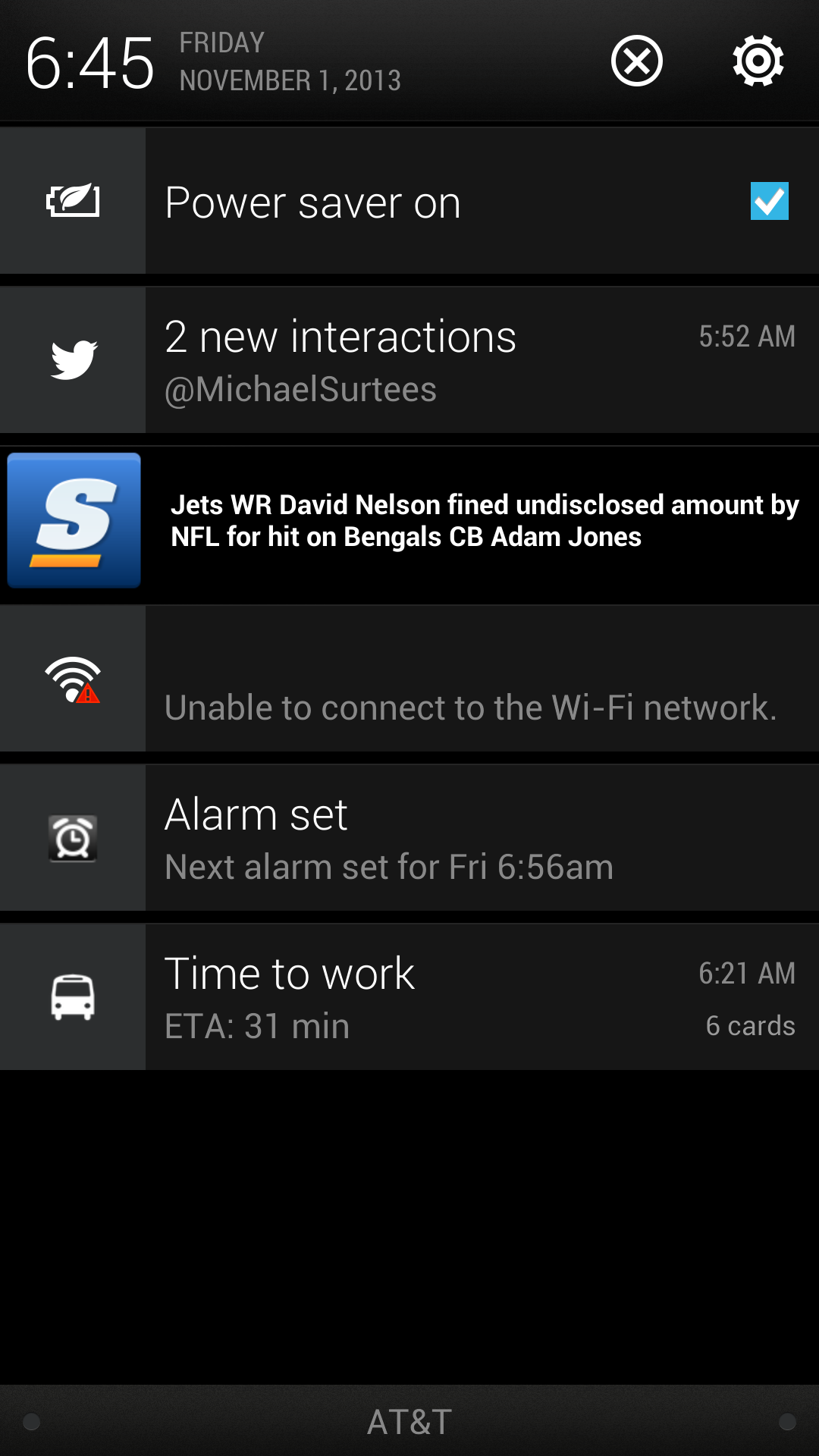 Notifications Expanded Android