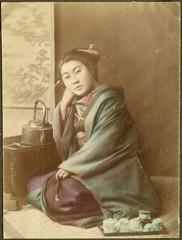 Woman at the tea table, Japan