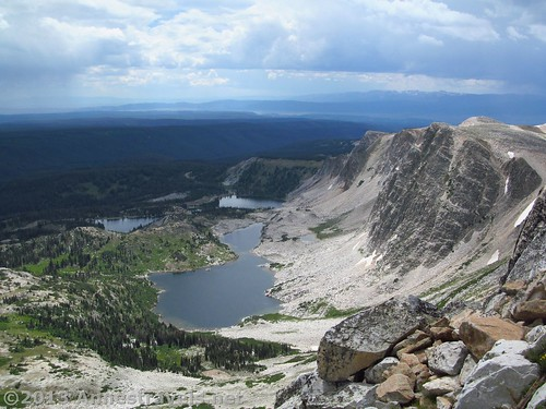 View of the lakes from Medicine Bow Peak, Snowy Range, Medicine Bow Peak National Forest, WY