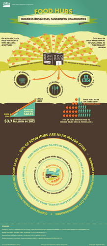 Infographic exploring the two sides of food hubs