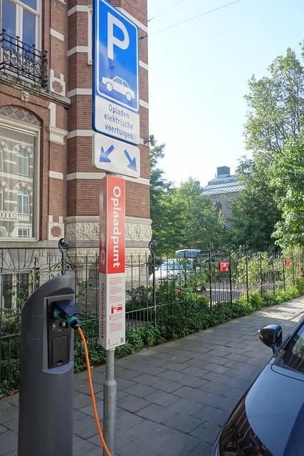阿姆斯特丹的電動汽車充電站