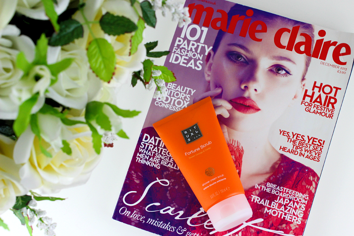 Rituals Sweet Orange and Cedar Fortune Shower Cream Scrub Free With December 2013 Issue UK Marie Clare Review