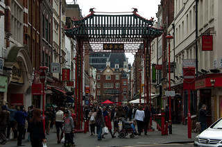 Gerrard Street in London Chinatown