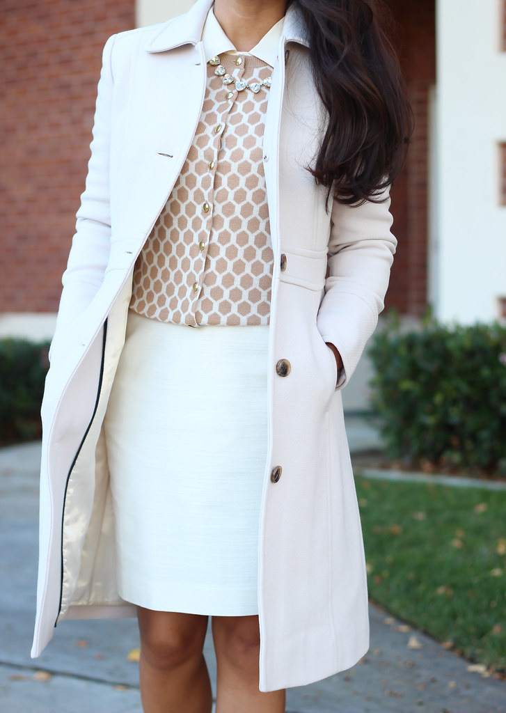 J.Crew Lady Day Coat in 00P and Honeycomb Cardigan-11