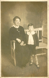'January 2/1/1917(?). Wishing you a Happy New Year, To Mother and Rose.'