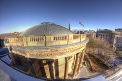 Picton Reading Room shot taken from the roof of the Central Library Samyang 8mm Fisheye Canon 600D...