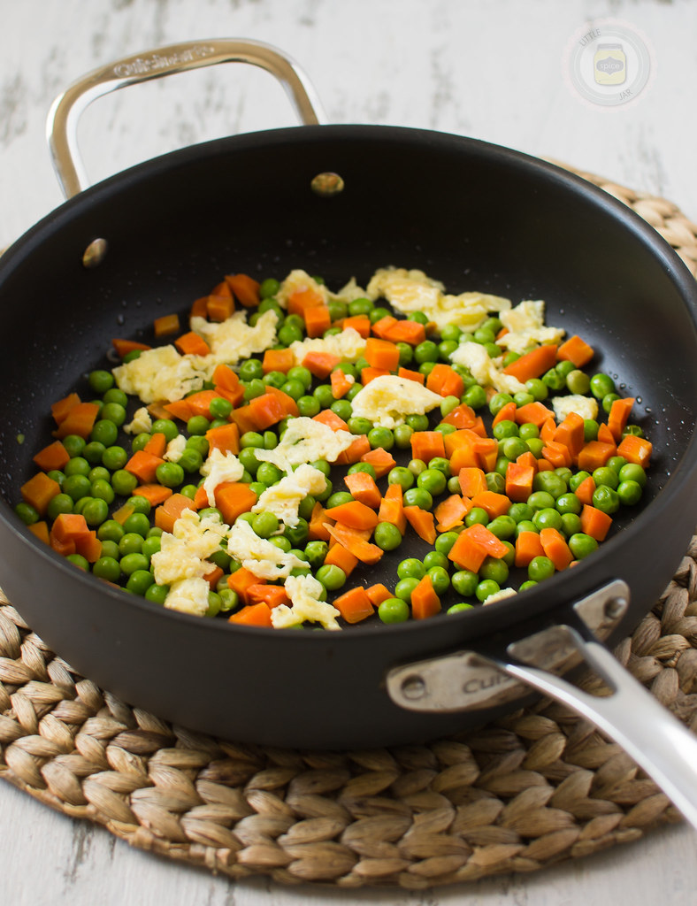 Faster than Takeout Fried Rice Cooking with Peas and Carrots