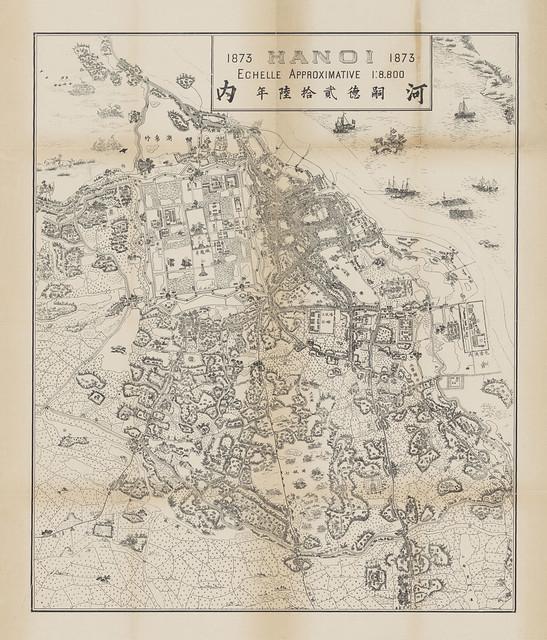 BẢN ĐỒ HANOI 1873 do Phạm Đình Bách vẽ năm 1902 (không phải vẽ năm 1873)