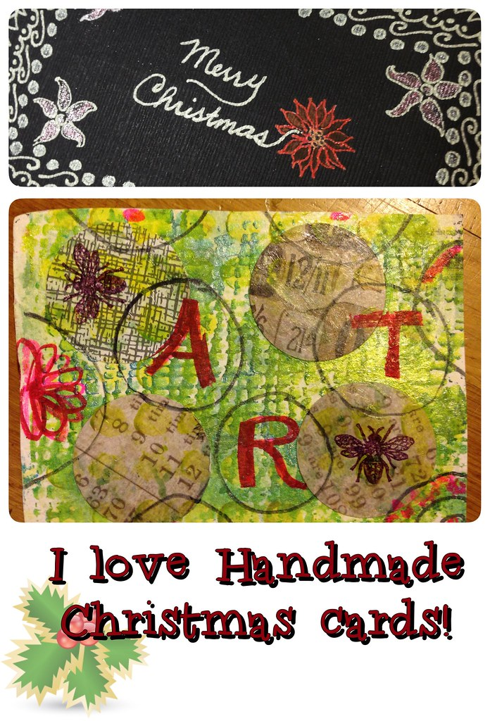 I love handmade Christmas Cards #diypostcardswap