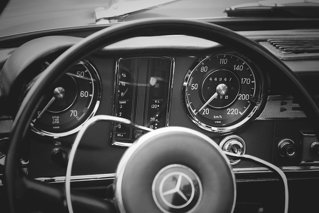 The W113 inside view