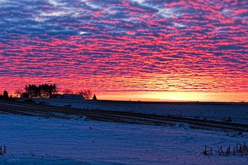 winter columbus snow wisconsin clouds sunrise unitedstates scenic ©jrj