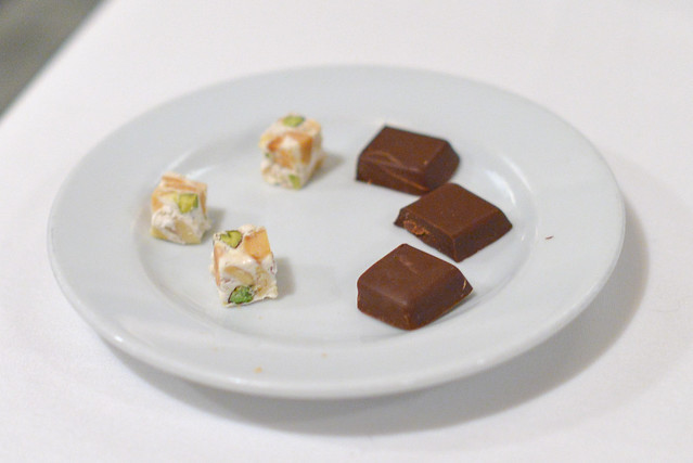 Pistachio and Gianduja Mignardises