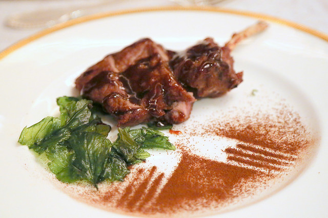 Baked Rack of Lamb with Chef's Signature Coffee Glaze