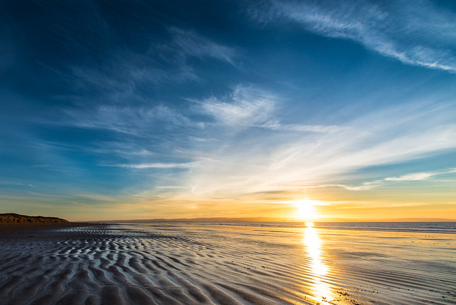Sunset over Berrow Sands