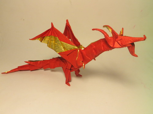 Fiery Dragon By Kade Chan Folded Me Using 35 Cm Deluxe Washi Paper
