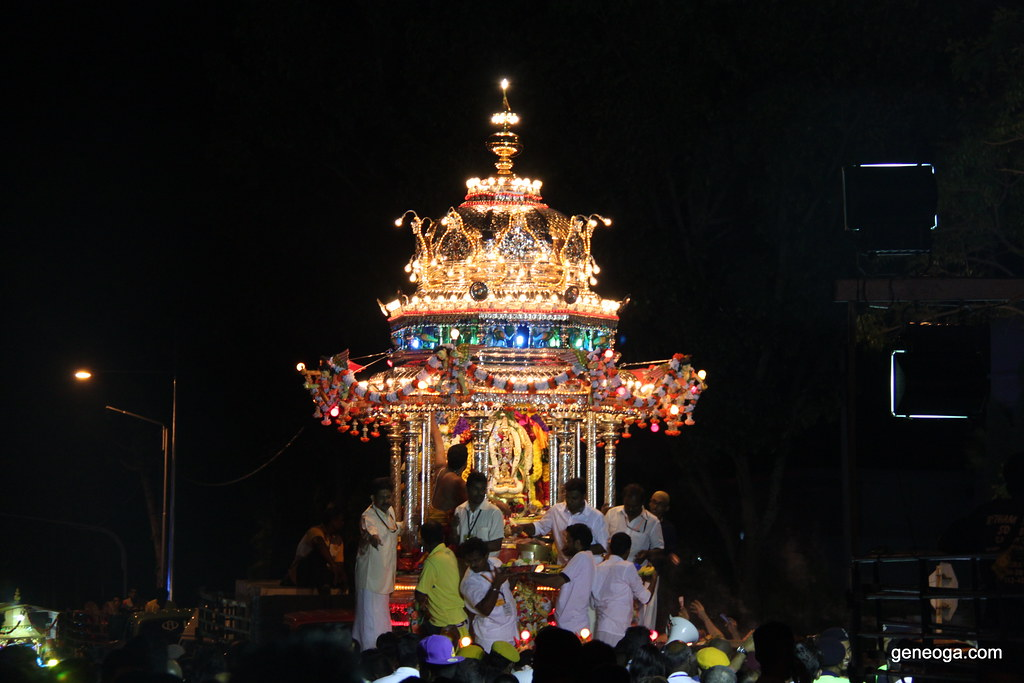 Silver Chariot with Lord Muruga