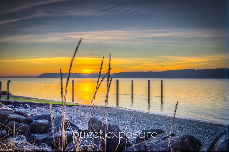Mukilteo Shoreline at Sunset