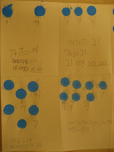 How many shoes does the Cootie mother have to buy for the Cootie children who each have 7 legs? Will drawing diagrams and writing number sentences help students see the connection between multiplication and addition? (Jan. 2011, Gr 3)