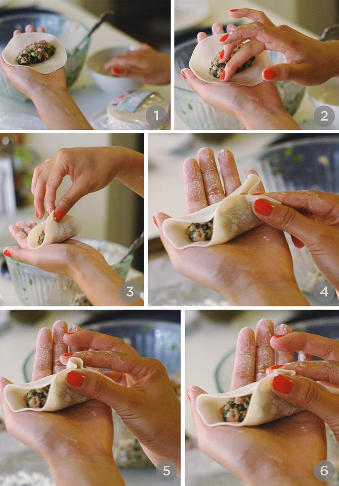 dumpling folding instructions