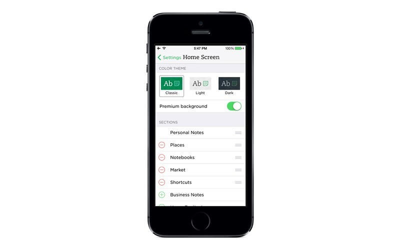 Evernote Adds Customizable Home Screens To iOS App