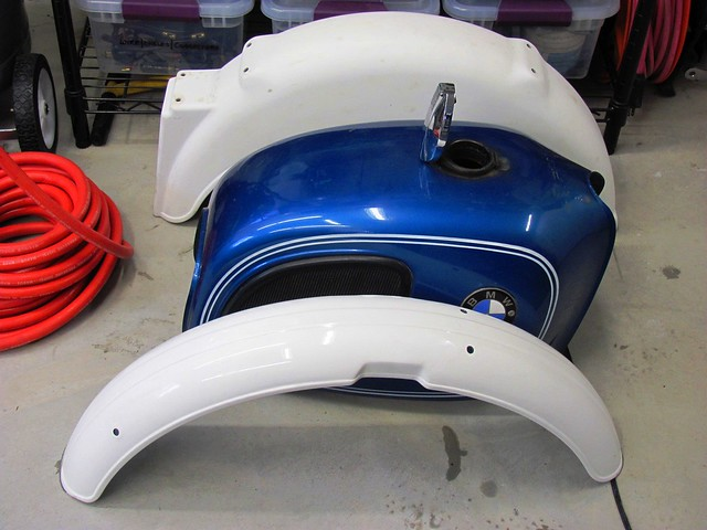 Stripped Front and Rear Fenders