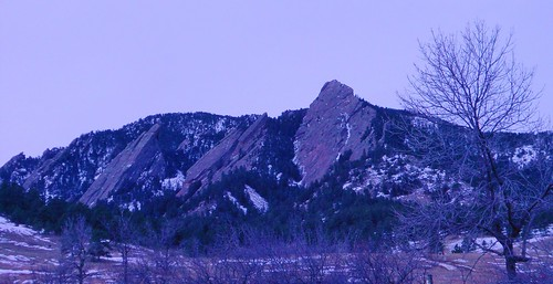 The Flatirons In Winter