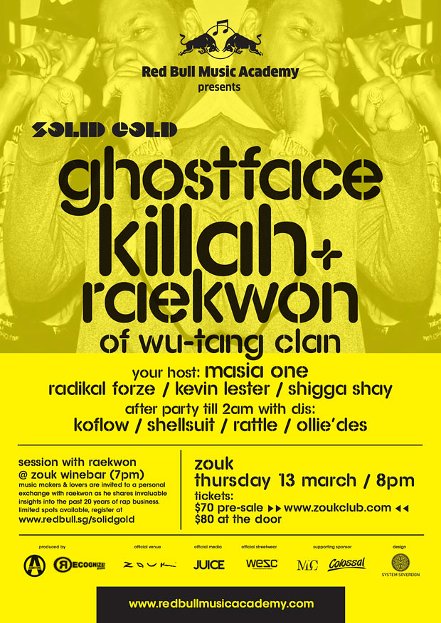 Raekwon & Ghostface Killah of Wu-Tang Clan launches Singapore Concert 2014 at Zouk Singapore