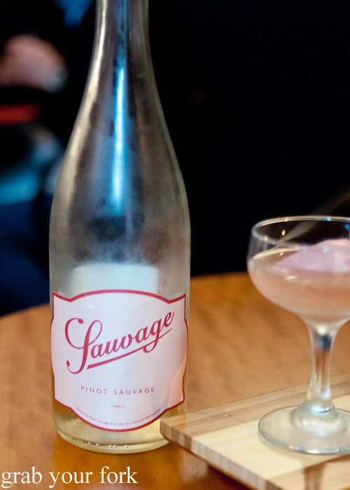 Pinot sauvage sparkling rosé at Lee Ho Fook, Melbourne