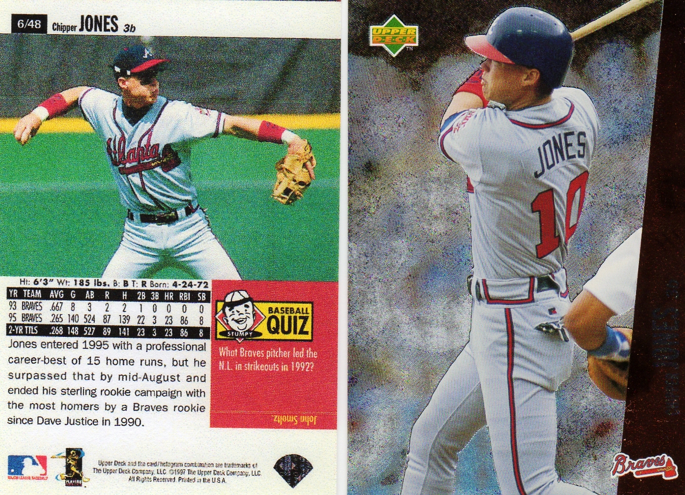 chipper jones price list supercollector catalog