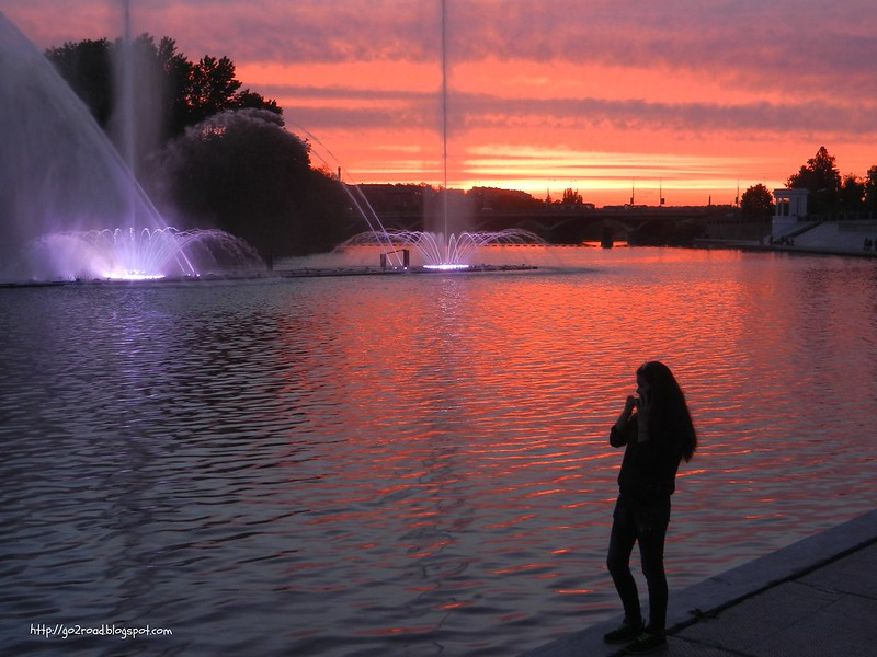Винница, фонтаны днем