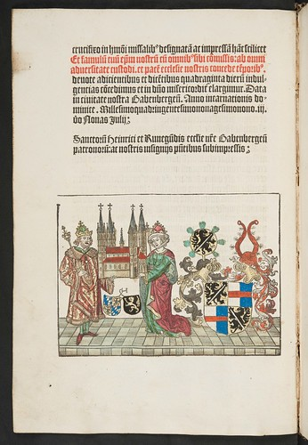 Hand coloured woodcut in Missale Bambergense (Bamberg)