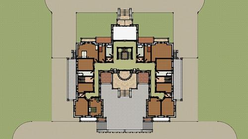 Denah Hotel Arsitektur Klasik Lantai 2
