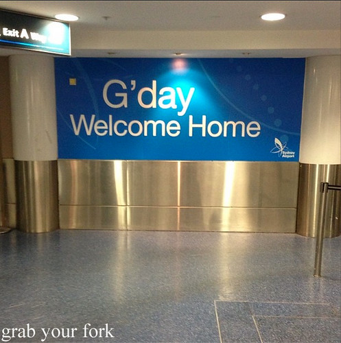 Sydney International Airport welcome home