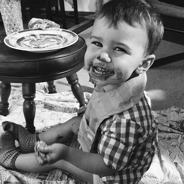 We had s'mores last night for dessert. I think Luther liked his. #instaluther #toddler #children #latergram #smores #dessert