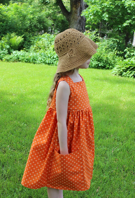 Sally dress in orange