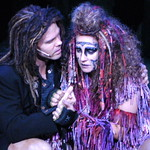 Arvada Center Tarzan pictured LR Brian Ogilvie (Tarzan), Shannan Steele (Kala) photo P. Switzer 2014 -