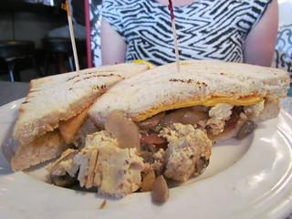 Breakfast Sandwich at Downbeat Diner