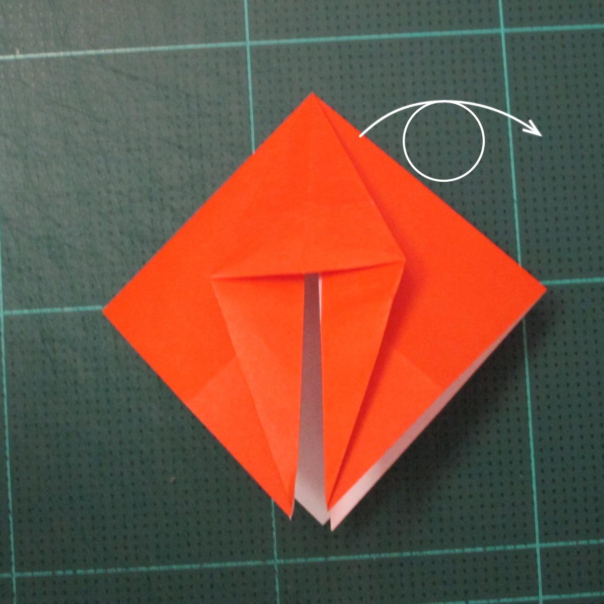วิธีพับกระดาษเป็นที่คั่นหนังสือรูปผีเสื้อ (Origami Butterfly Bookmark) 019