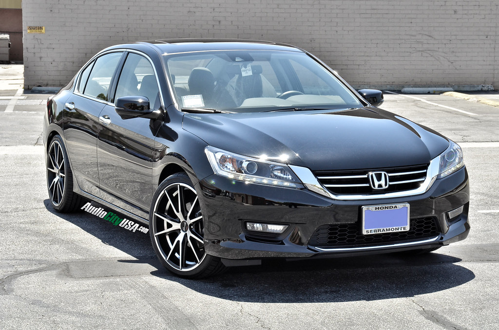 "2014 Honda Accord V6 Sedan on 20"" Gianelle Davalu black ..."