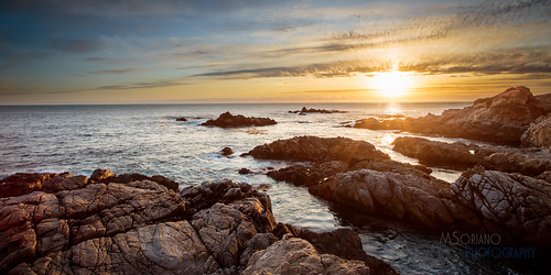ocean california road sunset sea panorama sun west beach rio rock clouds canon gold golden coast monterey waves pacific grove stack highway1 carmel lichen algae garrapata oceanview 6d statebeach msoriano tagakodak msorianophotography marvinsoriano