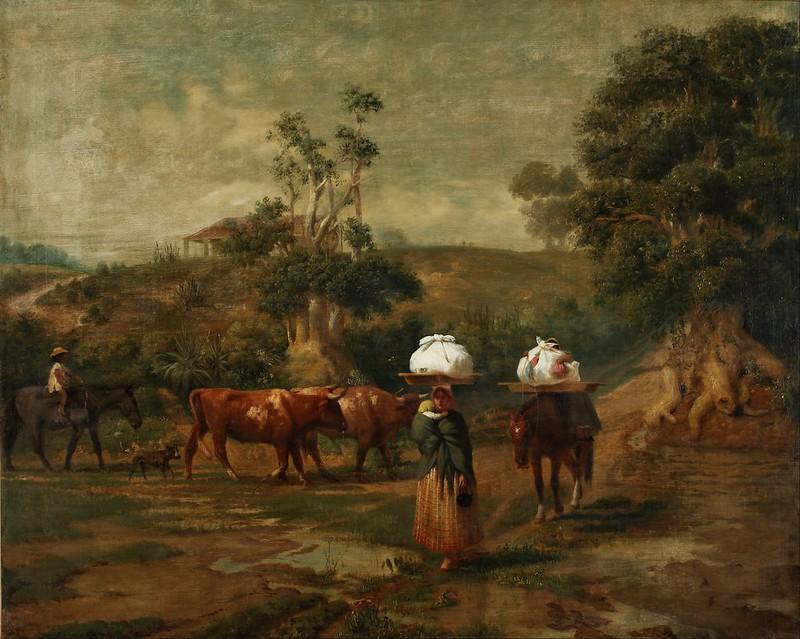 Prilidiano Pueyrredon - Lavanderas en el bajo de Belgrano (1865)