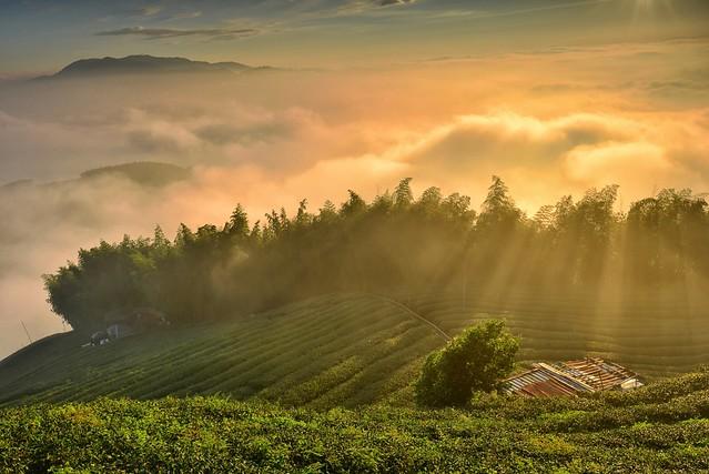 Sunset at Mountain Dalun  大崙山夕照