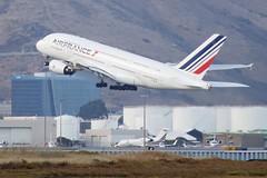 Air France Airbus 380 F-HPJB leaving SFO DSC_0310