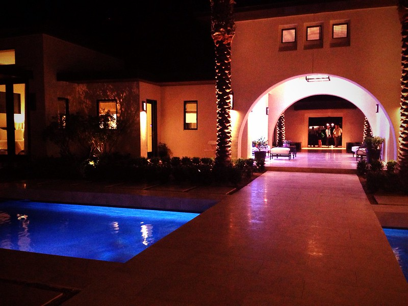 Private House Party - Pool and Tree Lighting - Intelligent Lighting Design - www.ildlighting.com