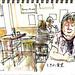 in a restaurant by kumi matsukawa