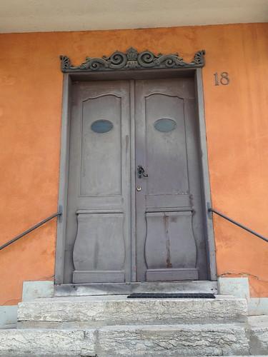 Colorful door in Visby, island of Gotland, Sweden