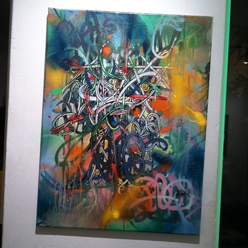 #abstract #graffiti #luv1 #knotwerk #painting #artshow #trenton #mygoodness #219gallery #canvas