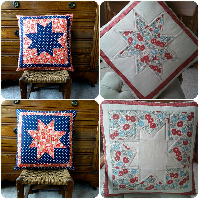 Wonky Star Cushion Class samples