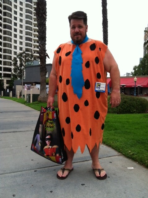 barney rubble on his way to comic con